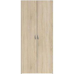 ARMOIRE DE CHAMBRE VARIA Armoire 2 portes décor chêne L81 cm