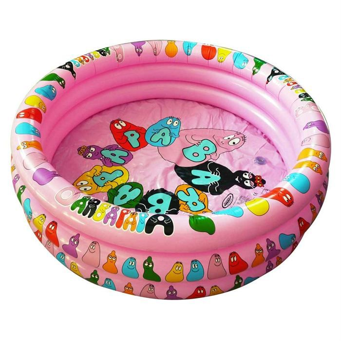 Barbapapa piscine gonflable achat vente pataugeoire for Piscine gonflable 2 boudins