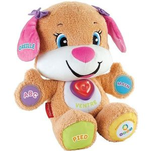 PELUCHE FISHER-PRICE - Puppy Sister Eveil Progressif - Pel