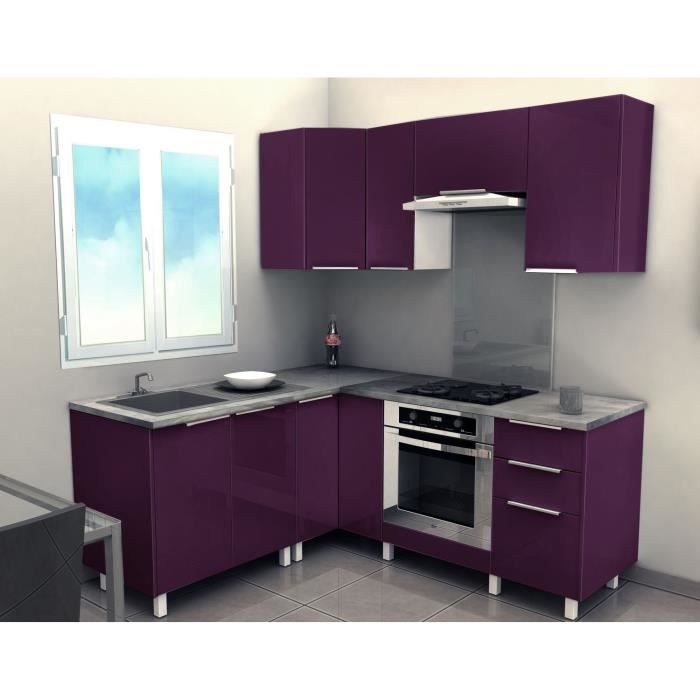 cusine compl te spicy angle 2 40m achat vente cuisine compl te cuisine spicy 2 40m aubergine. Black Bedroom Furniture Sets. Home Design Ideas