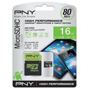 CARTE MÉMOIRE PNY High Performance Carte mémoire Micro SDHC 16 G