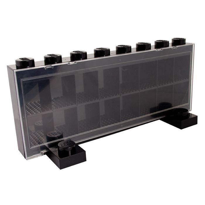 lego vitrine figurines 16 cases noire achat vente assemblage construction cdiscount. Black Bedroom Furniture Sets. Home Design Ideas