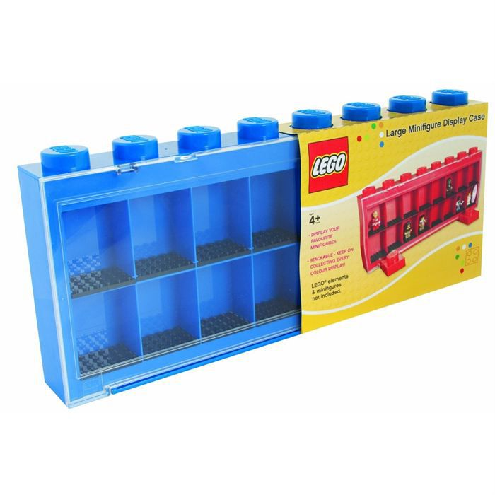 lego vitrine figurines 16 cases bleue achat vente assemblage construction lego vitrine. Black Bedroom Furniture Sets. Home Design Ideas