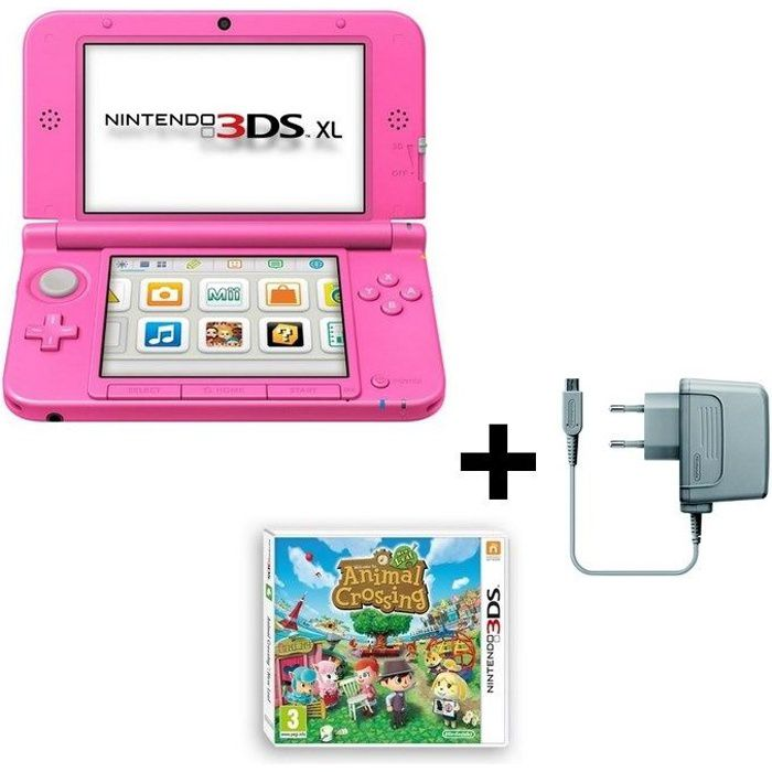 console 3ds xl animal crossing new leaf jeu 3ds achat vente console 3ds console 3ds xl. Black Bedroom Furniture Sets. Home Design Ideas