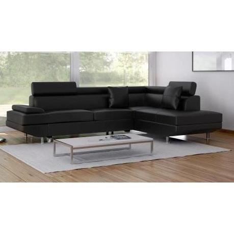 scoop canap d 39 angle droit convertible 5 places simili. Black Bedroom Furniture Sets. Home Design Ideas