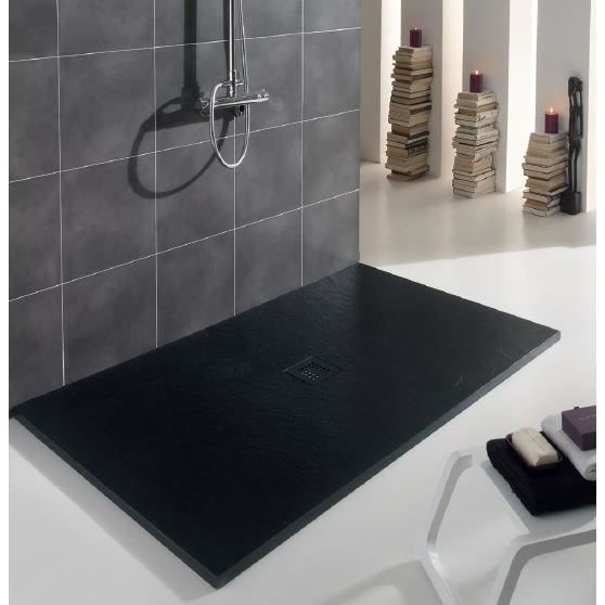 receveur de douche pizzara extra plat 90x140cm graphite achat vente receveur de douche. Black Bedroom Furniture Sets. Home Design Ideas