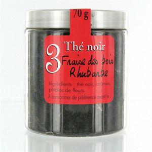 THÉ MAISON TAILLEFER Thé Noir Fraise des bois et Rhuba