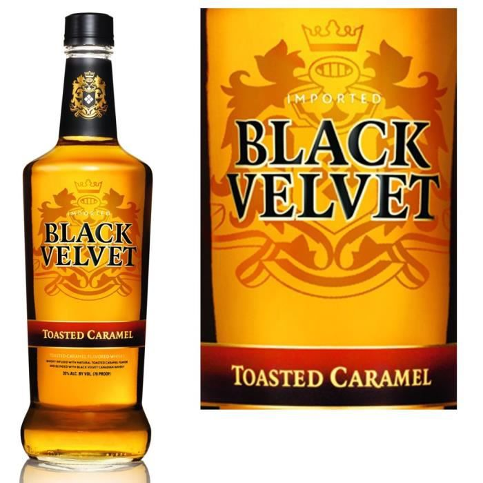 WHISKY BOURBON SCOTCH Black Velvet Toasted Caramel 35%