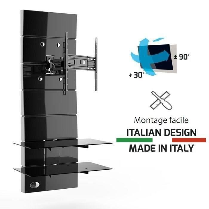 Ghost design 3000r noir meuble tv support orientable 32 - Meuble tv colonne design ...