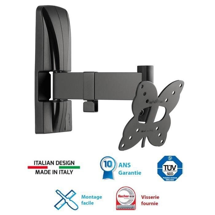 Meliconi 100 sr support tv mural orientable slim 14 25 for Meliconi support tv