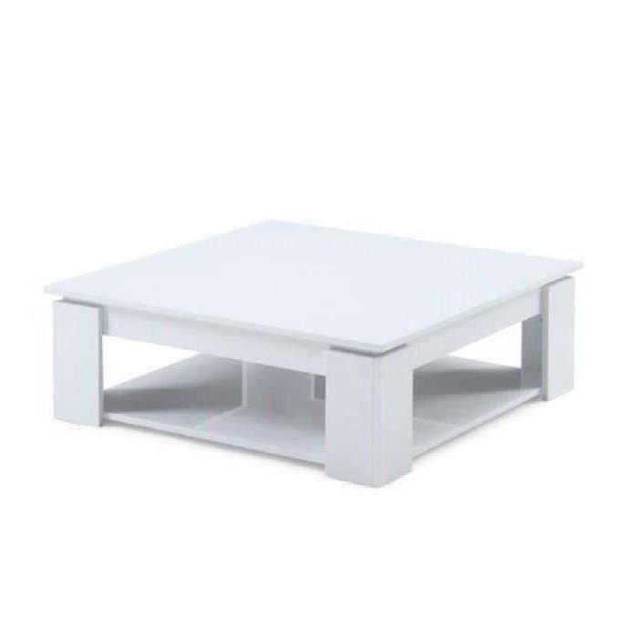 Manhattan table basse carr e blanc brillant achat - Petite table de salon pas cher ...