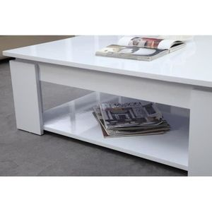 Table basse carre laquee blanc achat vente table basse for Table basse carree blanc laquee
