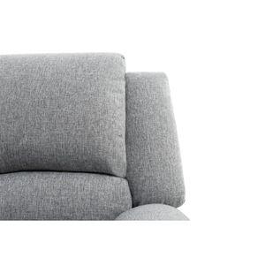 CANAPÉ - SOFA - DIVAN RELAX Canapé de relaxation 2 places - Tissu gris c