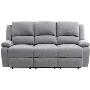 CANAPÉ - SOFA - DIVAN RELAX Canapé de relaxation 3 places - Tissu gris c