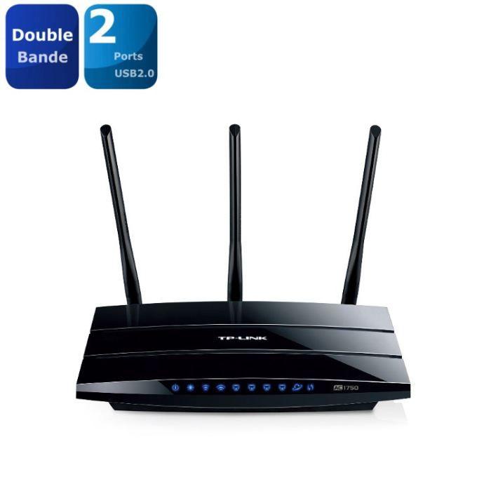 MODEM - ROUTEUR TP-LINK Routeur Gigabit Wi-Fi double bande AC1750