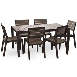 Ensemble table et chaise de jardin KETER Ensemble de jardin Harmony en résine imitati