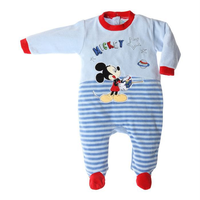 mickey mouse dors bien velours b b gar on achat vente pyjama chemise de nuit mickey mouse. Black Bedroom Furniture Sets. Home Design Ideas