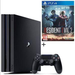 CONSOLE PS4 NOUVEAUTÉ Pack PS4 Pro 1 To Noire + Resident Evil 2