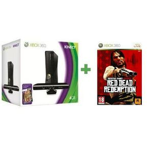 CONSOLE XBOX 360 PACK XBOX 360 4 GO KINECT + RED DEAD REDEMPTION