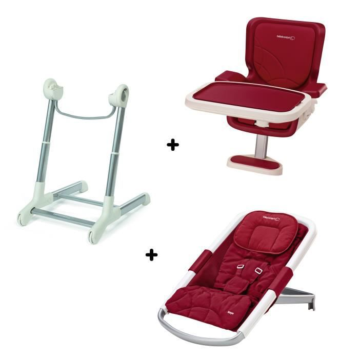 Bebe confort concept keyo support transat assise de chaise fancy red achat vente pack - Chaise haute keyo bebe confort ...