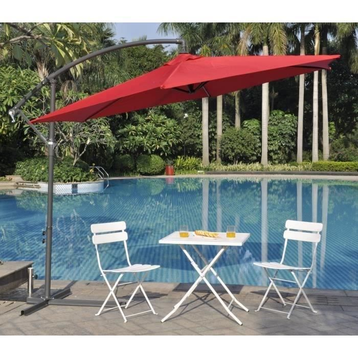 finlandek parasol d port tohota en aluminium 3 m achat vente parasol finlandek parasol. Black Bedroom Furniture Sets. Home Design Ideas