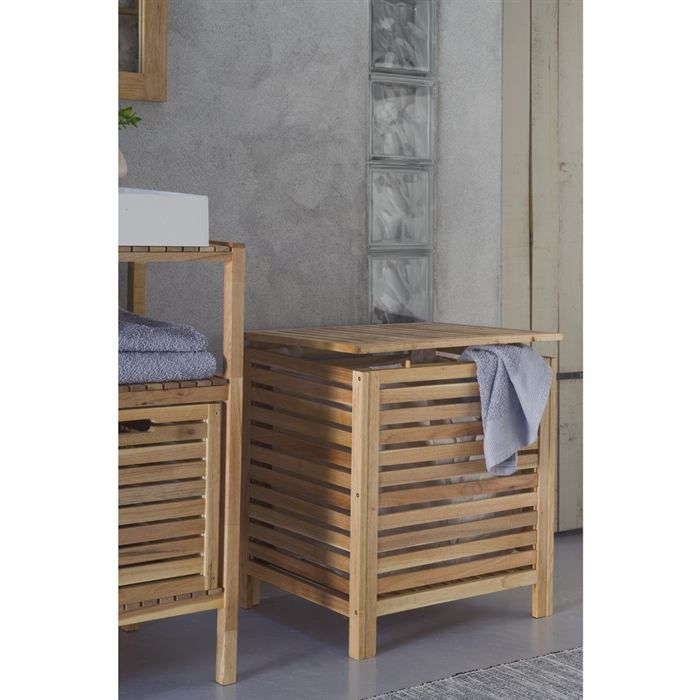 spa coffre linge achat vente panier a linge spa coffre linge cdiscount. Black Bedroom Furniture Sets. Home Design Ideas