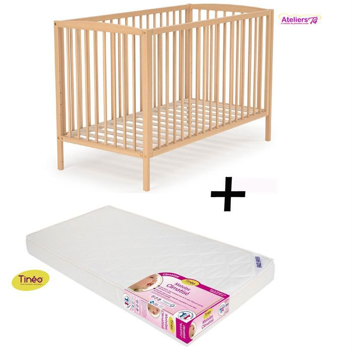 ensemble lit naturel 60x120cm matelas babyclim achat. Black Bedroom Furniture Sets. Home Design Ideas