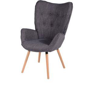 FAUTEUIL VIGGO Fauteuil - Tissu gris - Style scandinave - L