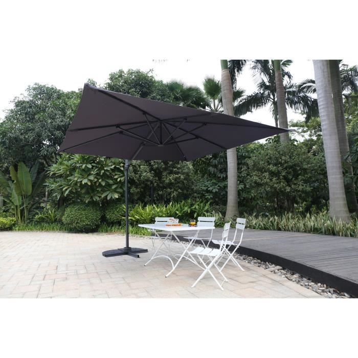 parasol d port parasol d port aluminium 3m gris avec housse pictures to pin on pinterest. Black Bedroom Furniture Sets. Home Design Ideas