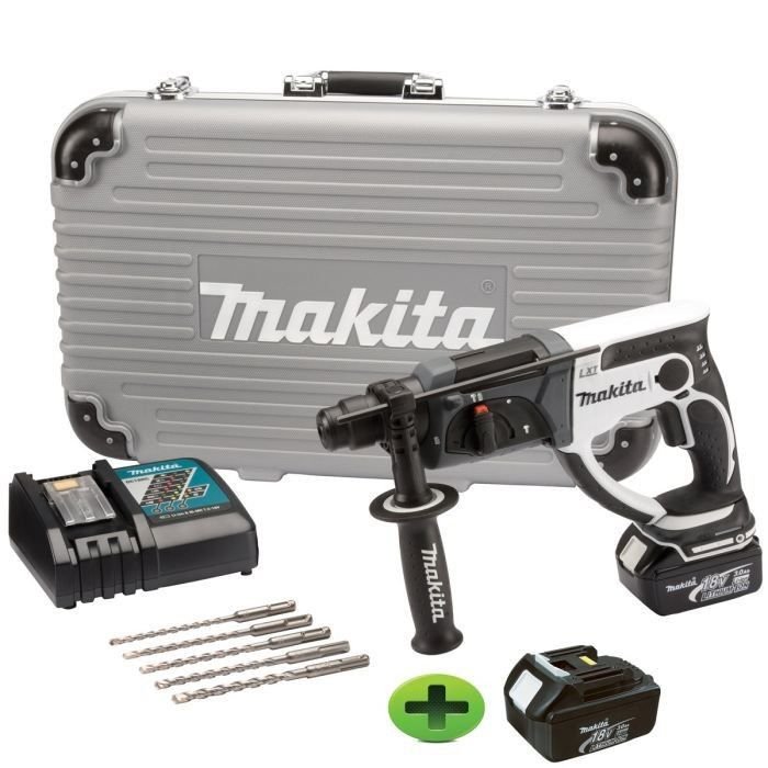 makita perforateur 18v 3ah li ion 2 batteries achat. Black Bedroom Furniture Sets. Home Design Ideas