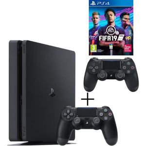 CONSOLE PS4 Pack Playstation : PS4 500 Go Noire + Manette Dual