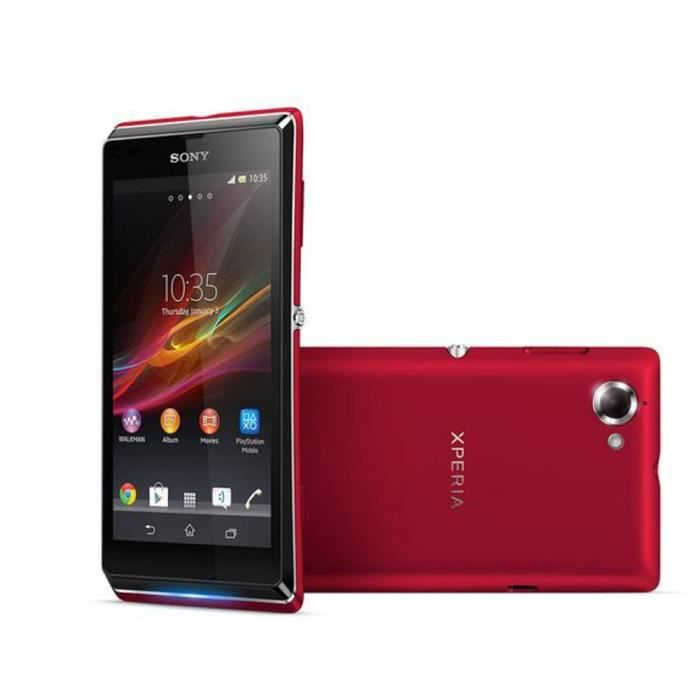 sony xperia l rouge achat smartphone pas cher avis et. Black Bedroom Furniture Sets. Home Design Ideas