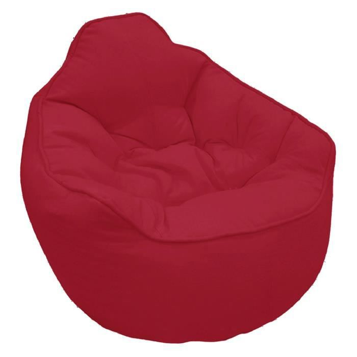 fauteuil pouf miljet rouge 65 x75 cm achat vente pouf. Black Bedroom Furniture Sets. Home Design Ideas