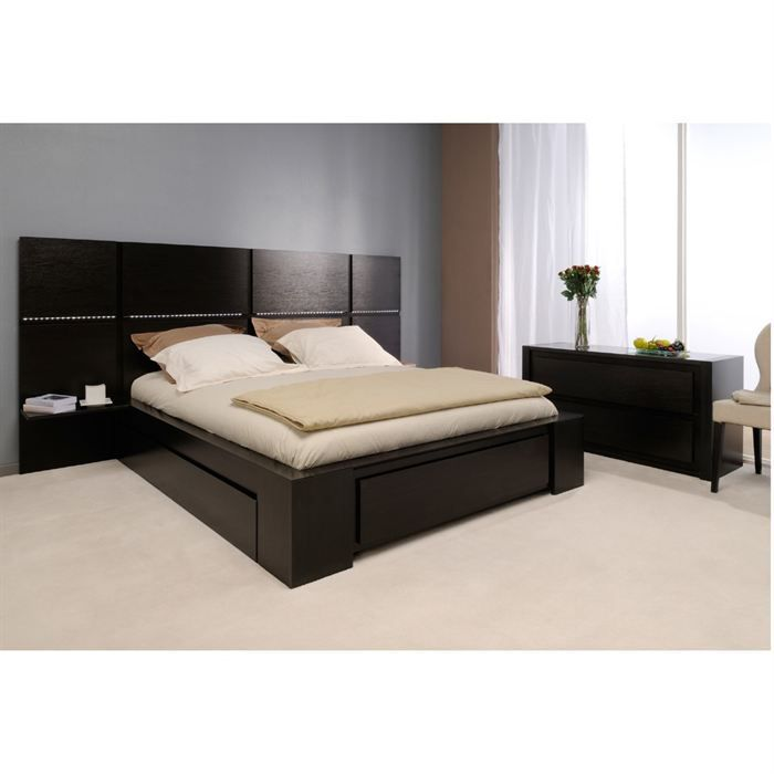 lit 160x200. Black Bedroom Furniture Sets. Home Design Ideas