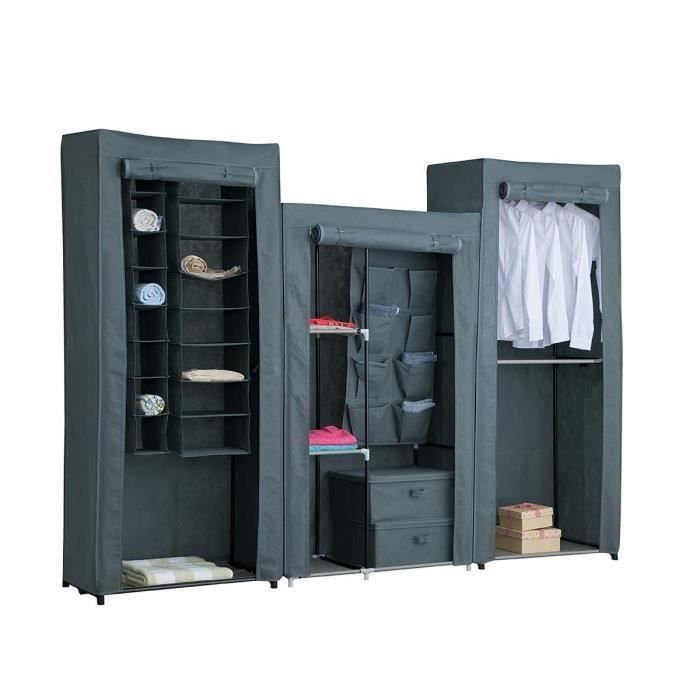 armoire penderie souple achat vente armoire penderie souple pas cher cdiscount. Black Bedroom Furniture Sets. Home Design Ideas