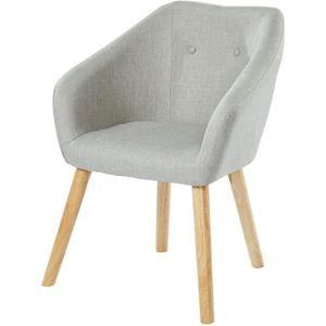 FAUTEUIL HILDA Fauteuil - Tissu gris - Scandinave - L 62 x