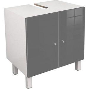 MEUBLE VASQUE - PLAN CORAIL Meuble sous-lavabo L 60 cm - Gris laqué