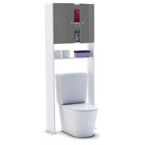 COLONNE - ARMOIRE WC CORAIL Meuble WC ou machine à laver L 63 cm - Gris