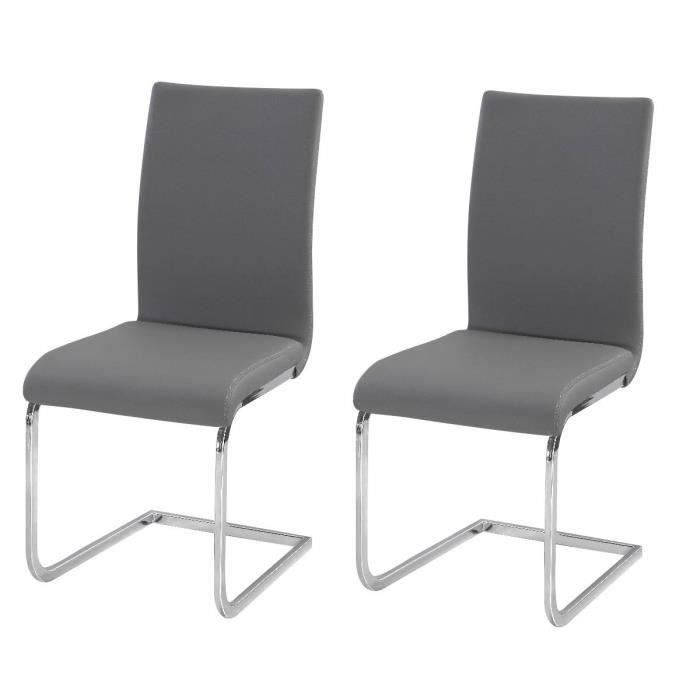 lea lot de 2 chaises de salle manger gris achat. Black Bedroom Furniture Sets. Home Design Ideas