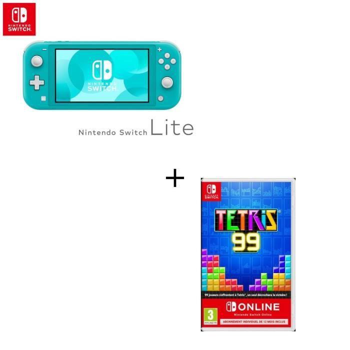 CONSOLE NINTENDO SWITCH Console Switch Lite Turquoise + Jeu Switch Tetris