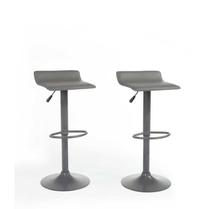 lot de 2 tabourets de bar gris achat vente lot de 2 tabourets de bar gris pas cher les. Black Bedroom Furniture Sets. Home Design Ideas