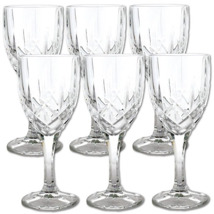 lot de 6 verres vin cristal 24 plomb achat vente verre vin lot de 6 verres vin. Black Bedroom Furniture Sets. Home Design Ideas