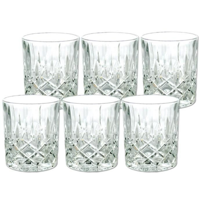lot de 6 verres whisky cristal 24 plomb achat vente verre cocktail cdiscount. Black Bedroom Furniture Sets. Home Design Ideas