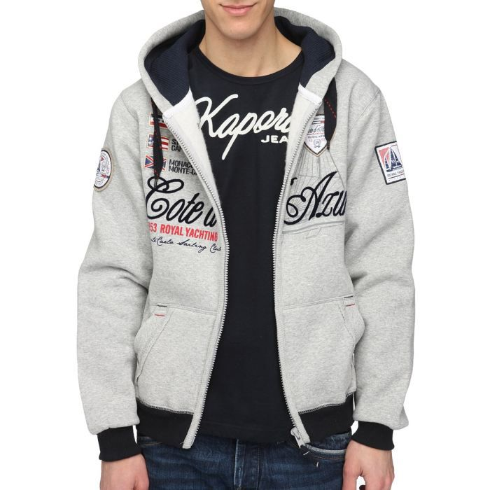 geographical norway sweat capuche gris achat vente sweatshirt geographical norway sweat. Black Bedroom Furniture Sets. Home Design Ideas