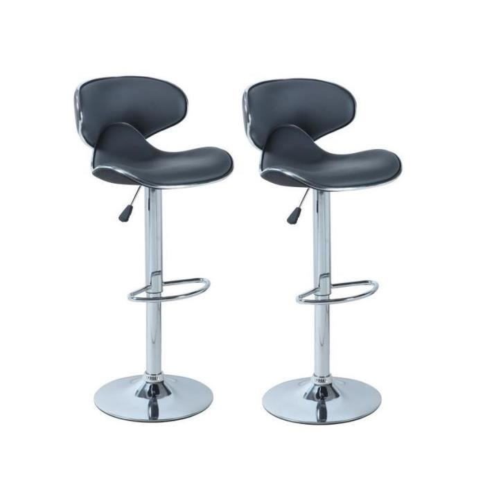 york lot de 2 tabourets de bar gris achat vente tabouret de bar m tal simili soldes d. Black Bedroom Furniture Sets. Home Design Ideas