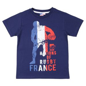 MAILLOT DE RUGBY NATIONS OF RUGBY T-shirt France Garçon RGB