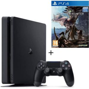 CONSOLE PS4 Nouvelle PS4 500 Go + Monster Hunter World Jeu PS4