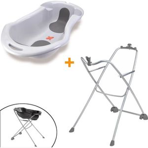 BAIGNOIRE  Tigex Pack Baignoire Anatomy Gris Perle + Support