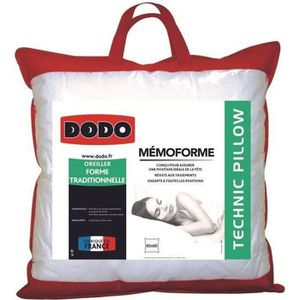 OREILLER DODO Oreiller à mémoire de forme MEMOFORME - 60 x