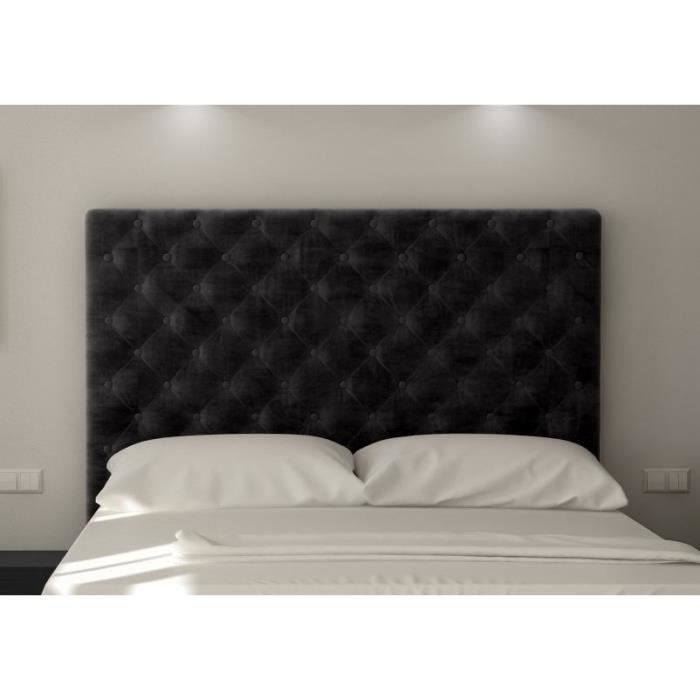 sogno t te de lit capitonn e adulte 160cm tissu achat. Black Bedroom Furniture Sets. Home Design Ideas